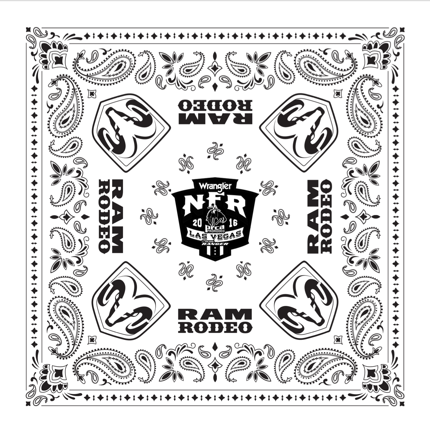 Official Dodge Ram Rodeo Bandana