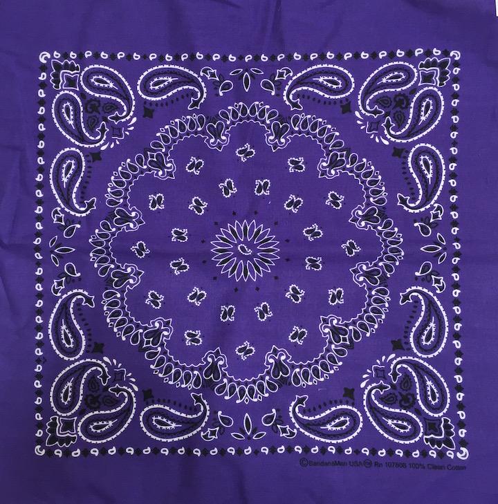 purple paisley wholesale bandanna